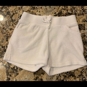 Janie and Jack White Terry shorts, 6-12mo.